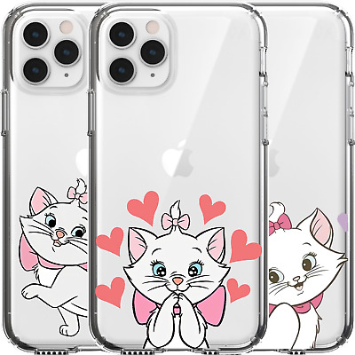 AU16.95 • Buy Silicone Cover Case Disney Marie Cat Cute Adorable Kitten White Pink Bow Tie Art