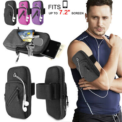 £4.95 • Buy Armband Phone Holder Case Sports Gym Running Jogging Arm Band Bag For Cellphone-