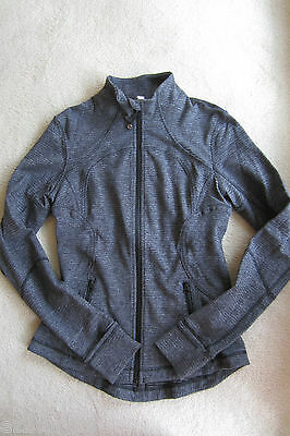 $ CDN159.99 • Buy Lululemon Forme Jacket Black Deep Coal Textured Pique Size 8