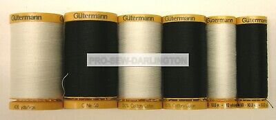 £8.99 • Buy Gutermann 100% Cotton Sewing Thread ( Black Or White )