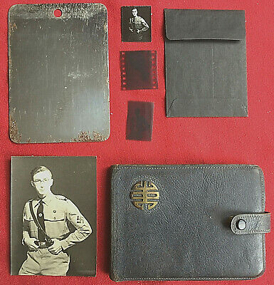 Concealed WW2 Photo Of Young German SS Officer In A 'Maginot' Cigarette Case. • 50£