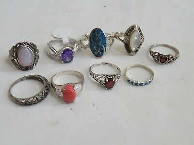 $ CDN79.08 • Buy 925 Sterling Silver Ring Jewelry Lot Turquoise MOP & More (139C)
