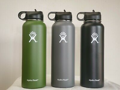 $30.99 • Buy Hydro-Flask 40oz Stainless Steel Insulated Water Bottle New With Straw Cleaner