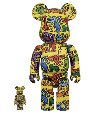 $385 • Buy Medicom Toy BE@RBRICK KEITH HARING #5 100% & 400% Figure From Japan