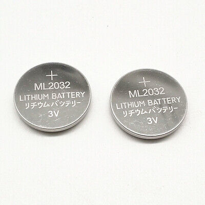 AU14.61 • Buy 2pcs ML2032 Rechargeable Button Battery 3V Backup Battery Can Replace CR2032