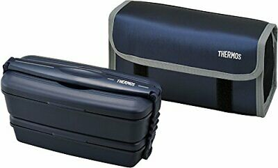 AU111.20 • Buy THERMOS Big Lunch Food Container Double Deck Bento Box 900ml DJB-904W From Japan