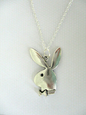 £3.89 • Buy  Playboy Bunny Rabbit Pendant Necklace. Sterling Silver Chain Stamped 925