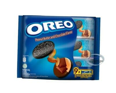 OREO Cookie Peanut Butter & Chocolate Sandwich Biscuits Snack Sweets Snacks Kids • 12.21£