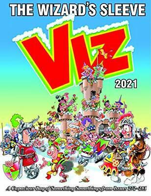 Viz Annual 2021: The Wizard's Sleeve: A Rousing Blast From Th New Hardcover Book • 12.18£