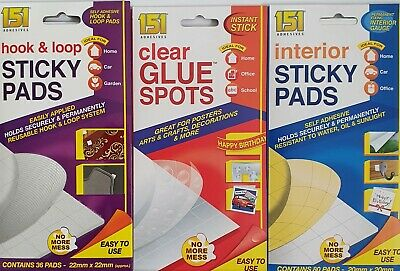 STRONG STICKY PADS DOUBLE SIDED FOAM SELF ADHESIVE & Glue Dots • 1.25£