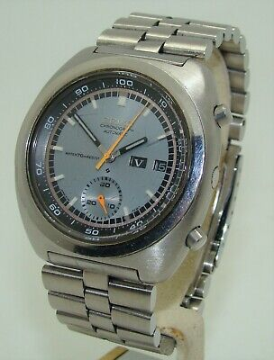 $ CDN253.75 • Buy VINTAGE SEIKO STAINLESS STEEL MEN's AUTOMATIC CHRONOGRAPH DAY-DATE WATCH C. 1970
