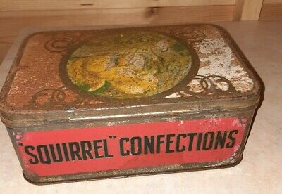 Squirrel Confections Vintage Sweet Tin | Advertising | Stockport • 3.99£
