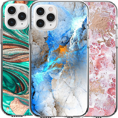 AU16.95 • Buy Silicone Cover Case Creative Luxury Marble Pattern Envirnomental Nature Art