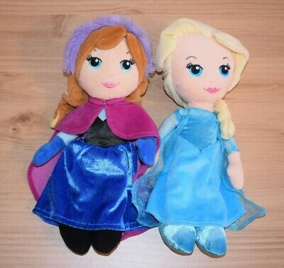 Disney Frozen Ana And Elsa Dolls Plush Soft Toy 30m C81 • 9.97£