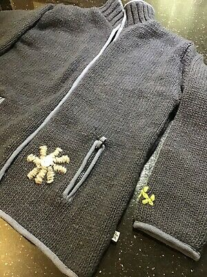 Pachamama Ladies Cardigan Charcoal With Embroidery New With Fault Size L • 20£