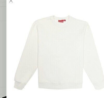 $ CDN360.02 • Buy Supreme Cutout Logo Crewneck Sweatshirt Box Logo - Medium - Natural
