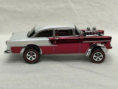 $160 • Buy Hot Wheels Rlc Red Line Club Red 55 Chevy Gasser New Loose Free Shipping