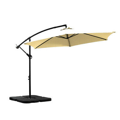 AU94.99 • Buy 3M Outdoor Umbrella Cantilever Base Stand Cover Garden Patio Beach Umbrellas