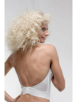 Low Back Wedding Bustier, Strapless, By Pourier 203, White, 36B NWT. Ex-stock • 29.99£