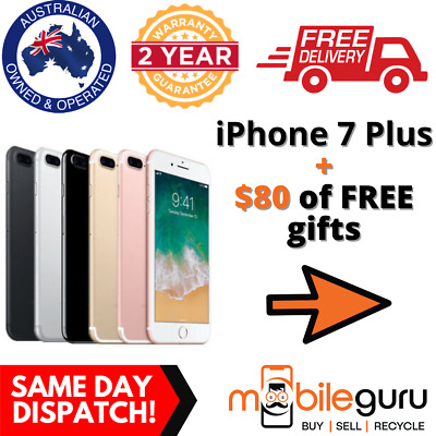 AU469 • Buy Apple IPhone 7+ 7 Plus AS NEW 32GB Black Unlocked GENUINE AU Stock Smartphone