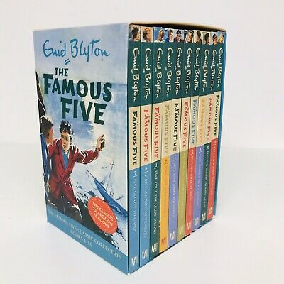 The Famous Five Enid Blyton Box Set Collection Of 10 Books • 14.99£