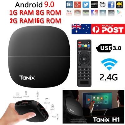 AU41.99 • Buy 2020 TANIX TV Box Quad Core 1+8G/2+16G WiFi 4K Media Player Android 9.0 TV Box