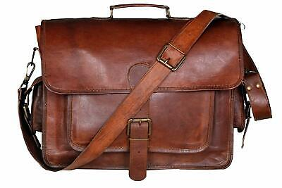 16 Inch Leather Laptop Messenger Briefcase Bag For Men And Women • 49.99£