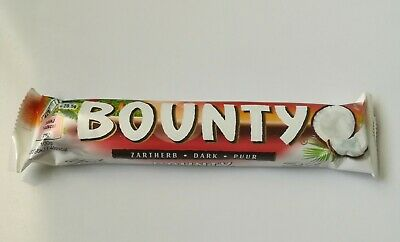 Bounty Dark  Chocolate Bar 57g. Twin Bar - Pack Of 10 For 1 Quantity.  • 11.50£
