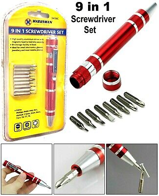 £3.49 • Buy 9 IN 1 Precision Screwdriver Bit Set - For Small Electronics Glasses & Jewellery