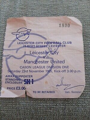 Leicester City V Manchester United TICKET.  23/11/1985 • 0.99£