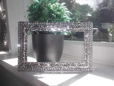 £7.49 • Buy Silver Chunky Glitter Crystal Double Plug Socket Surround Plate Fit On Wallpaper