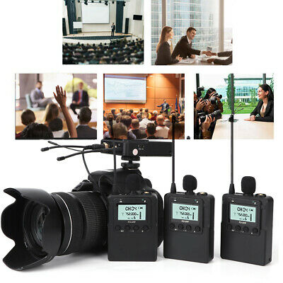 $162.89 • Buy FD FM103 One For Three Wireless Microphone MIC 80M Audio Transmission LED Screen