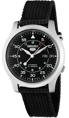 $ CDN123.08 • Buy Seiko Men's SNK809 Seiko 5 Automatic Stainless Steel Watch With Black Canvas St