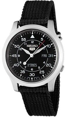$ CDN122.72 • Buy Seiko Men's SNK809 Seiko 5 Automatic Stainless Steel Watch With Black Canvas St