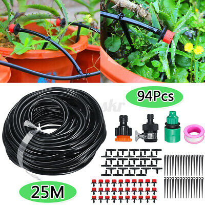 25M Automatic Drip Irrigation System Kit Micro Sprinkler Garden Plant Watering • 8.96£
