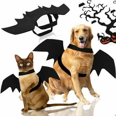 Pet Bat Halloween Costume Vampire Dress Outfit Wing For Dog Cat Animal Fancy- • 2.99£