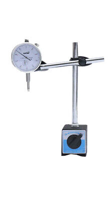 Used HH02-30 Dial Indicator Test DTI Gauge 0-10mm  Double Pole Magnetic Base • 14.99£