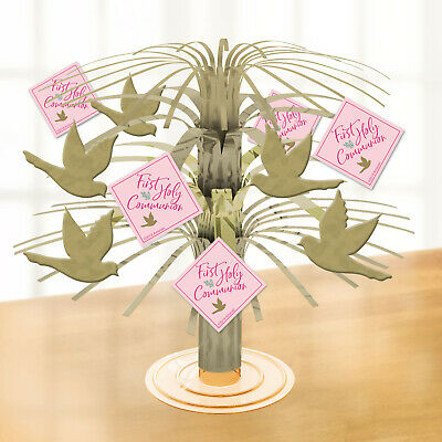 Pink First Holy Communion Mini Foil Cascade Centrepiece Table Party Decoration • 2.89£