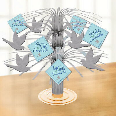 Blue First Holy Communion Mini Foil Cascade Centrepiece Table Party Decoration • 2.89£