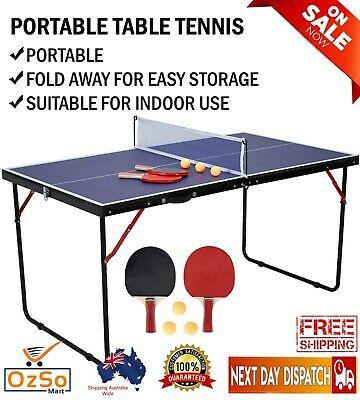 AU79 • Buy Sale Portable Table Tennis Play Post Ping Pong Net Ball Fold Set Indoor Outdoor