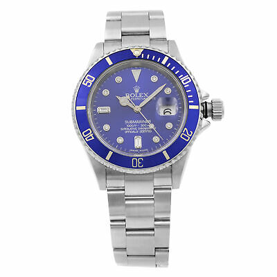 $ CDN11077.60 • Buy Rolex Submariner Date Steel No Holes Black Dial Automatic Mens Watch 16610