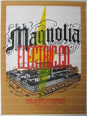 Magnolia Electric Co. Concert Poster 2005 Concert Signed • 175.19£