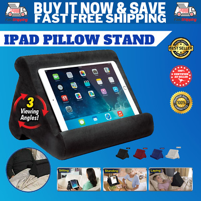 AU15.99 • Buy Tablet Pillow Stand Cushion Pad For IPad Book Reader Holder Rest Black Grey Oz