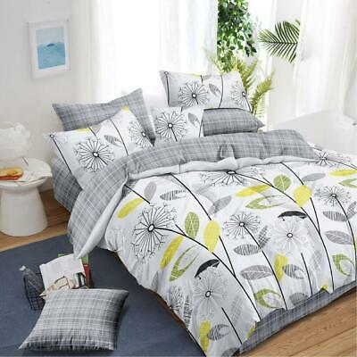 AU49 • Buy All Size Bed Quilt Duvet Doona Cover Set 100% Cotton Bedding Pillowcase Dandelio