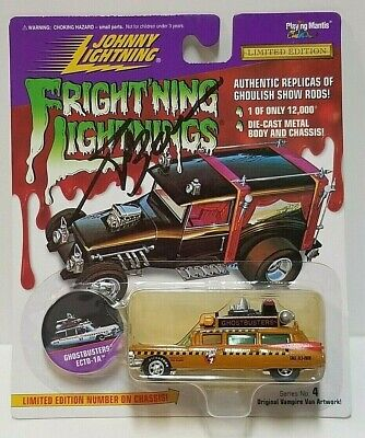 Johnny Lightning Ghostbusters Ecto-1A Signed George Barris! • 36.18£