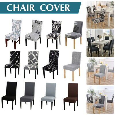 AU30.99 • Buy Stretch Dining Chair Covers Slipcover Spandex Wedding Cover 1/4/6/8Pcs Removable