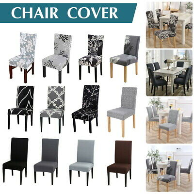 AU29.44 • Buy Stretch Dining Chair Covers Slipcover Spandex Wedding Cover 1/4/6/8Pcs Removable