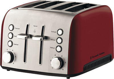 AU99.95 • Buy NEW Russell Hobbs RHT54RBY Heritage Vogue 4 Slice Toaster - Ruby Red