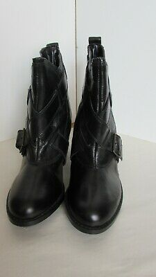 Red Herring Black  Strap Ankle Boots Size 8 • 14.50£