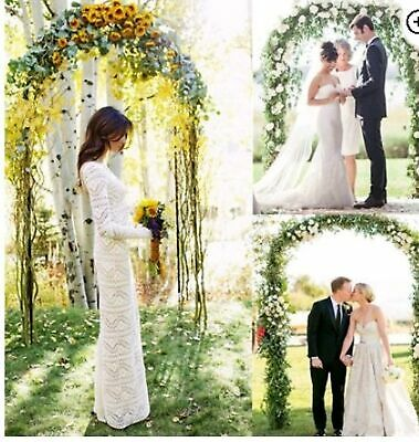 $26.02 • Buy 7.9ft Metal Army Green Arch Wedding Party Prom Garden Floral Decoration New
